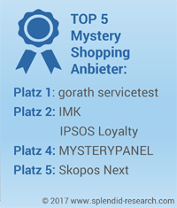 Top5 Mystery Shopper Monitor 2017